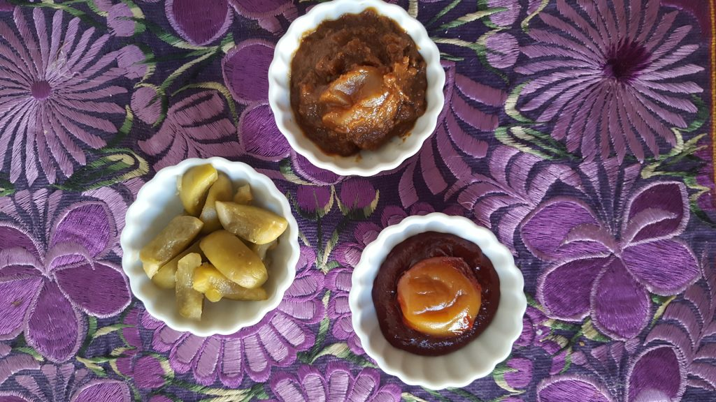 Pickles, soybean paste, and gojuchang