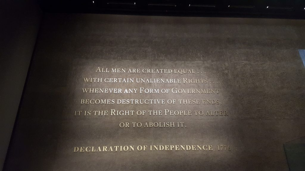 From the African American History Museum, Washington D.C.